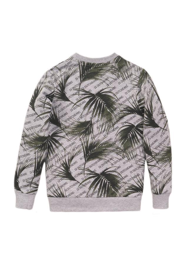 Boys Sweater ls - Grey Melee & AOP SS21