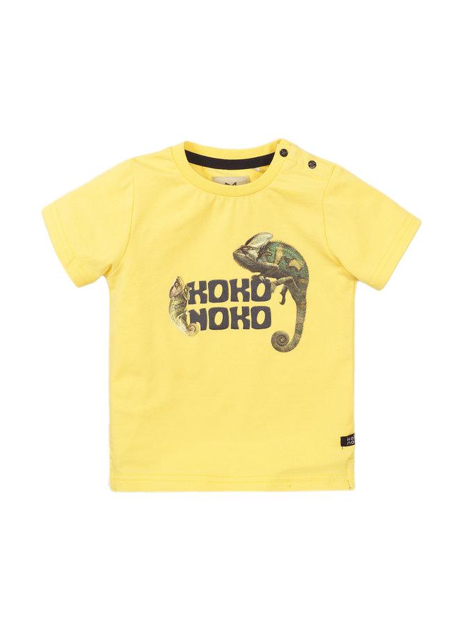 Boys T-shirt ss - Light Yellow SS21