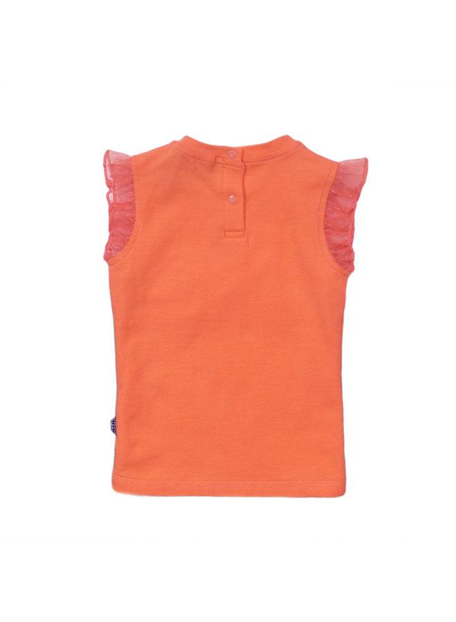 Girls T-shirt ss - Orange SS21