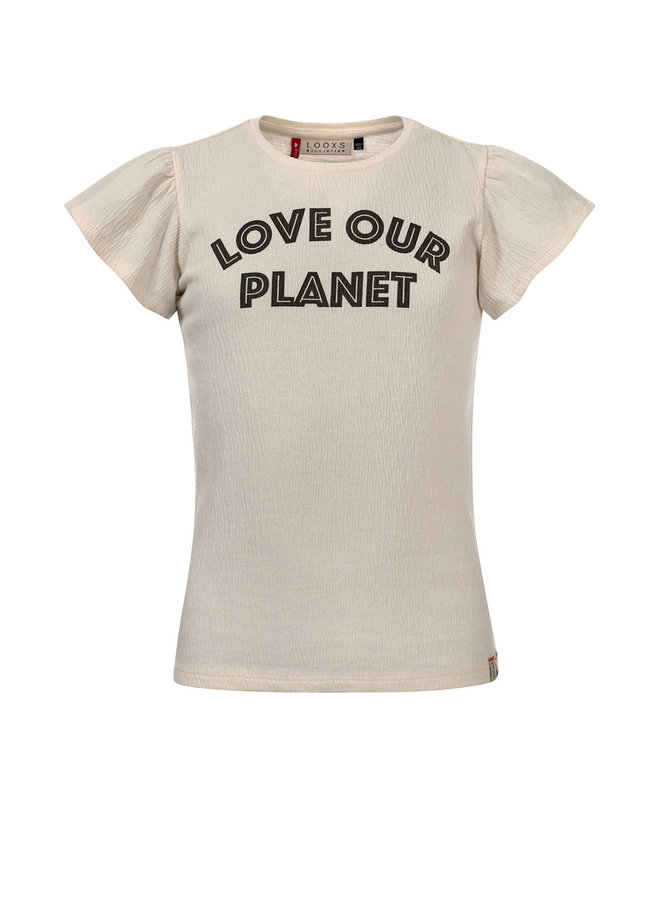 T-shirt ss Love Our Planet - Milk