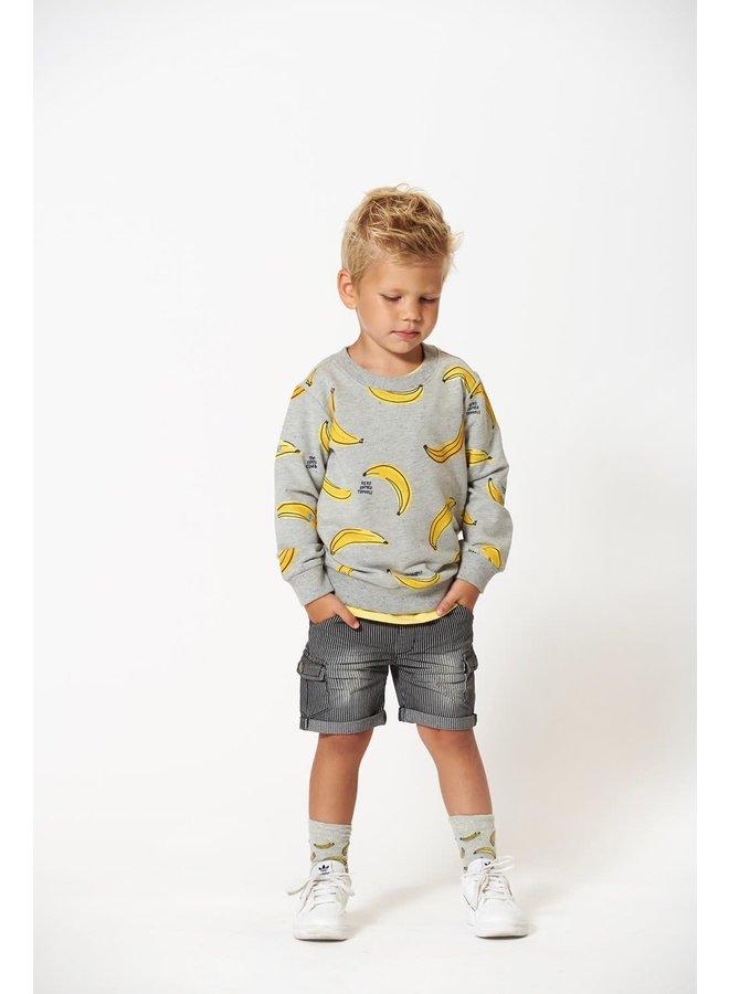 Sweater AOP - Playground - Grijs melange