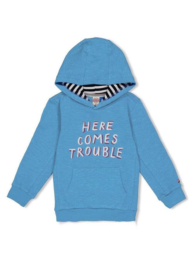 Hoody Trouble - Playground - Blauw