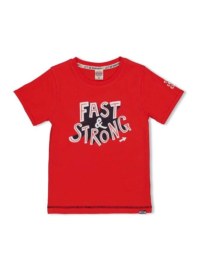 T-shirt Fast - Playground - Rood