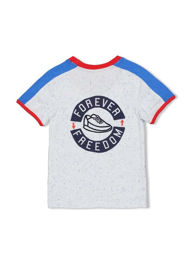 T-shirt Forever - Playground - Wit