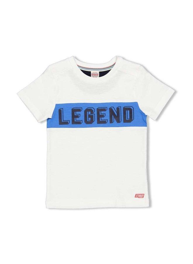 T-shirt Legend - Playground - Wit