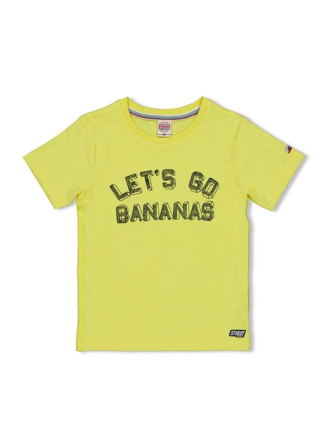 T-shirt Let's Go - Playground - Geel