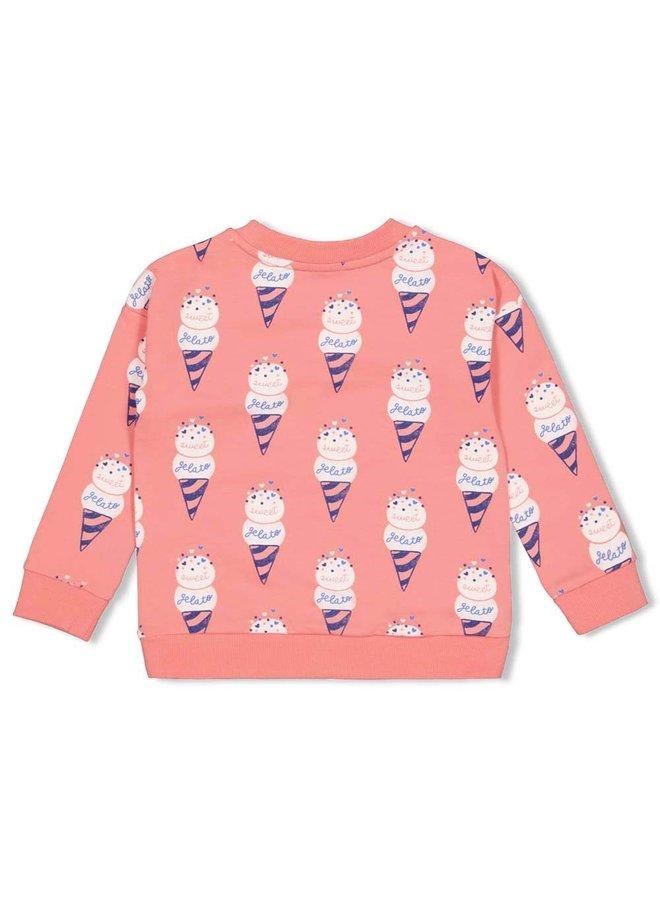 Sweater AOP - Sweet Gelato - Koraal