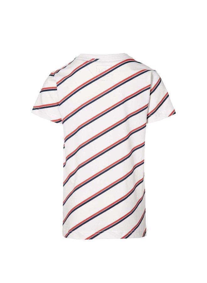 Marijn - Shortsleeve - Diagonal Stripe