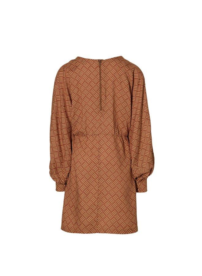 Magda - Dress - Rust Retro