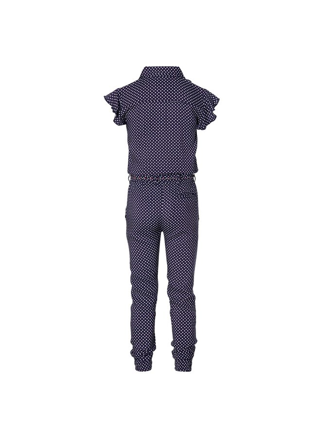 Francky - Jumpsuit - Dark Blue Retro