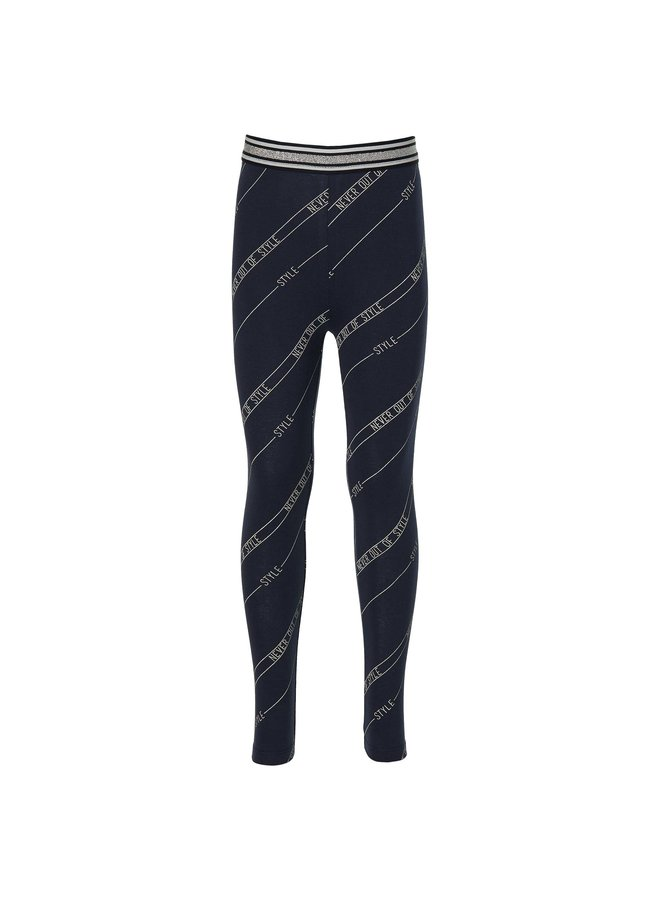 Flo - Legging - Dark Blue Text