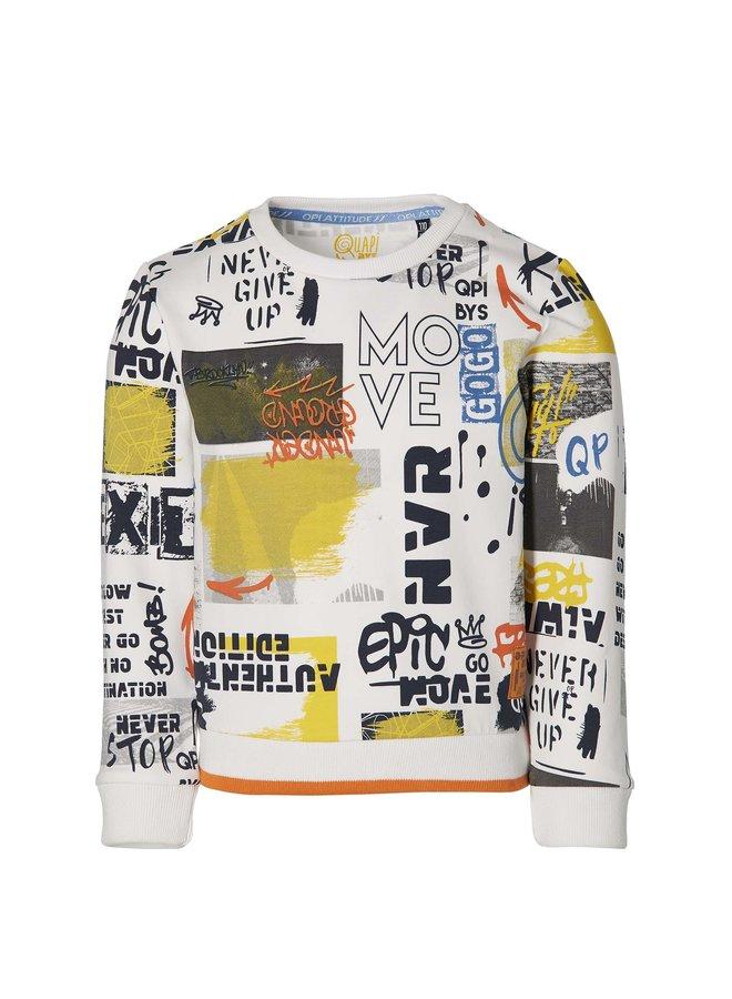 Fath - Sweater - White Grafitti
