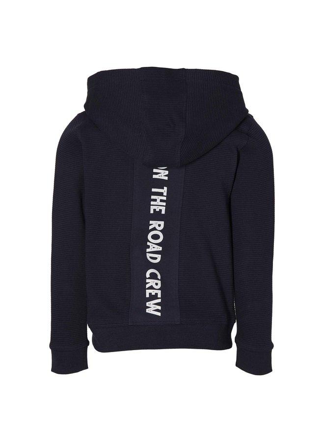 Ferry - Hooded Cardigan - Dark Blue