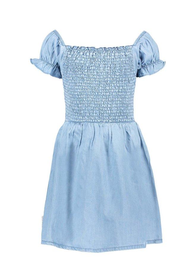 Girls - Smocked Dress - Curious Denim