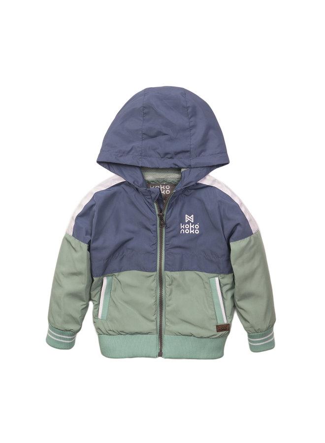 Boys Jacket - Mid Blue & Faded Green SS21