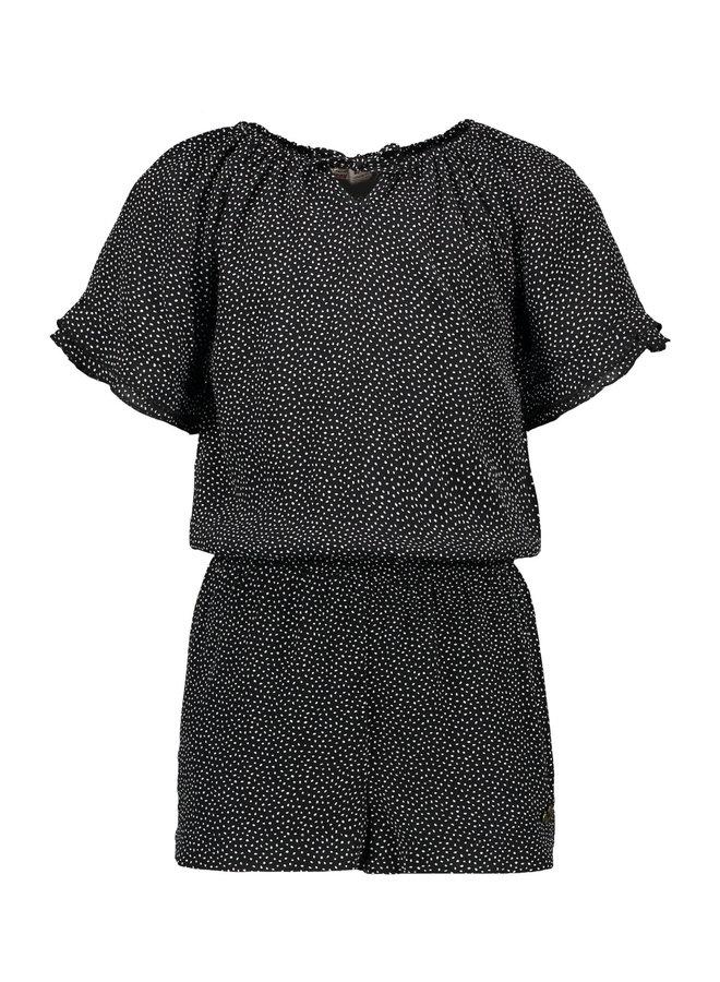 Luna - Viscose Dot Jumpsuit Short - Sweety - Black SS21