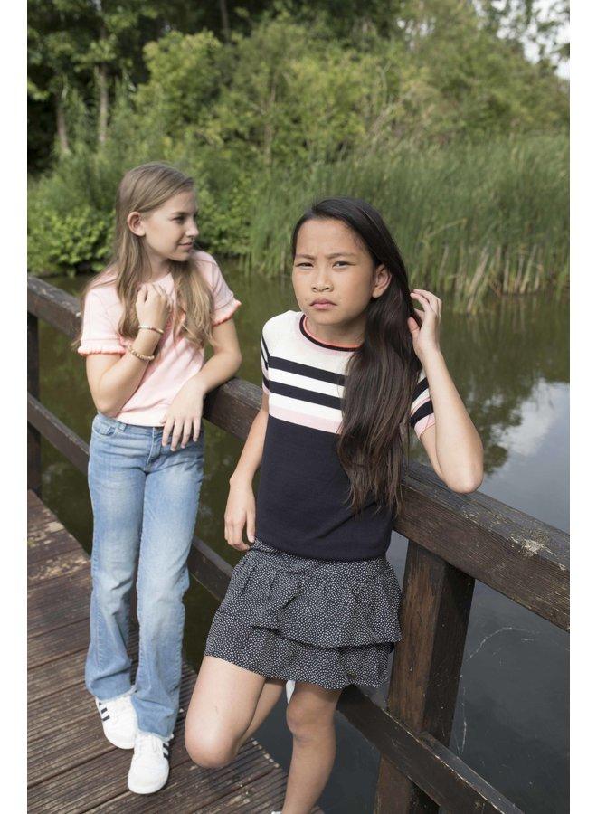 Luna - Viscose Dot Skirt - Maddy - Black SS21