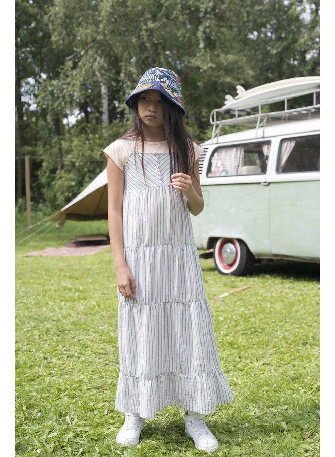 Luna - Striped Strap Dress - Lila - Blue SS21