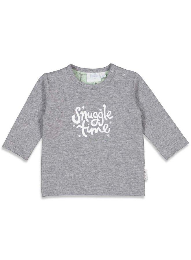 Longsleeve Snuggle - Animal Friends - Grijs melange