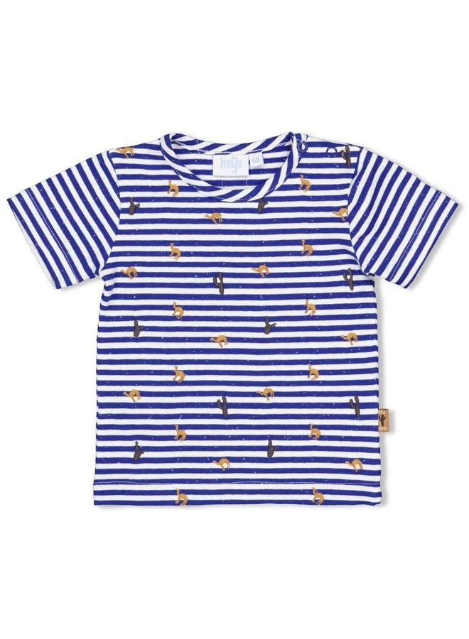 T-shirt Streep - Looking Sharp - Marine