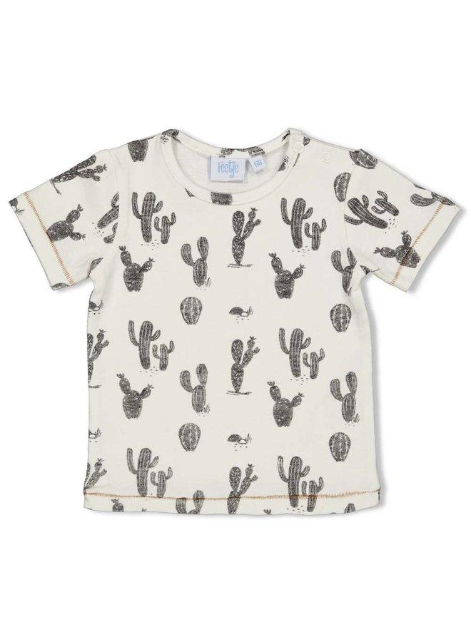 T-shirt AOP - Looking Sharp - Offwhite