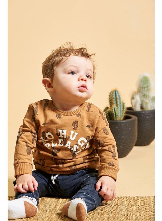Sweater AOP - Looking Sharp - Camel