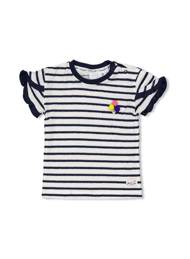 T-shirt streep - Sweet Gelato - Marine