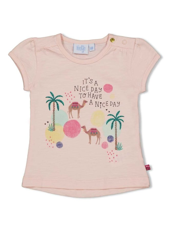 T-shirt Nice Day - Little Thing Called Love - Perzik