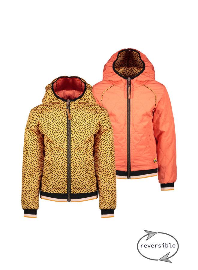 Recycled Polyester Jacket Rev - Blazing Orange