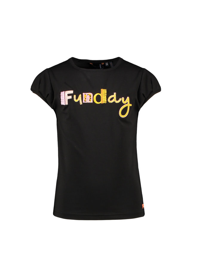 Kamsib ss T-shirt Funday Embroidery - Antracite