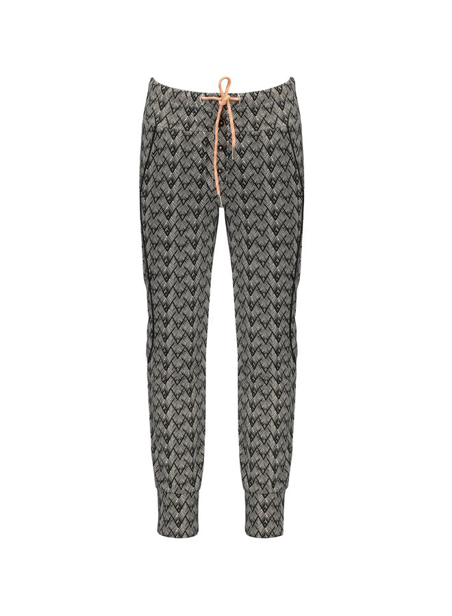 Soso Fancy Sweat Pants In African AOP - Antracite