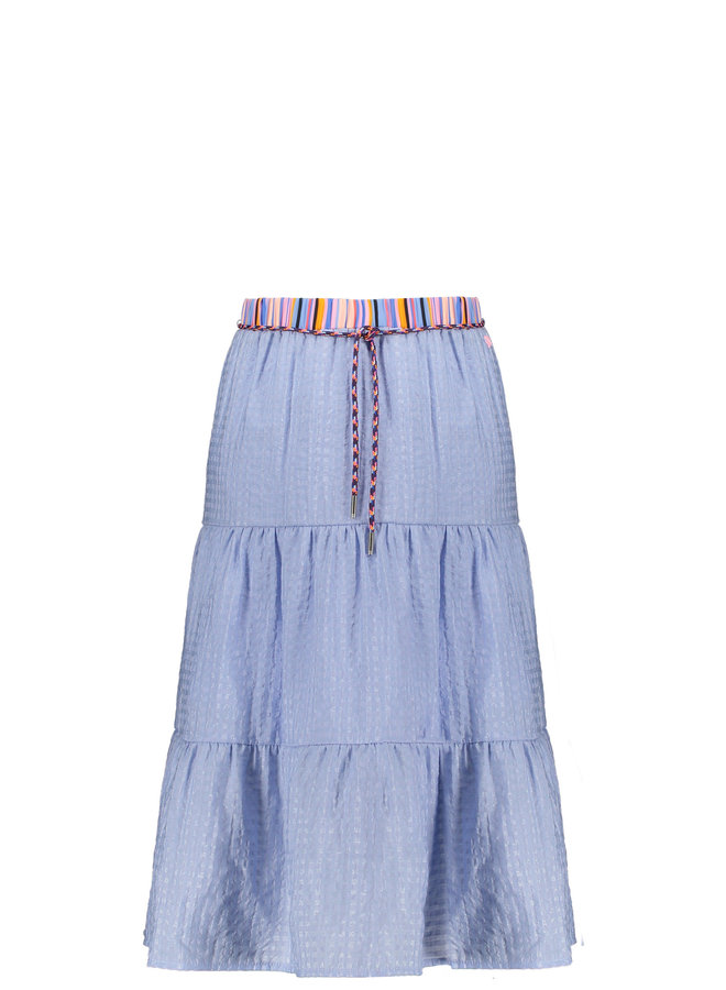 Nael Maxi Woven Skirt With Contrast Waistband - Bright Sky