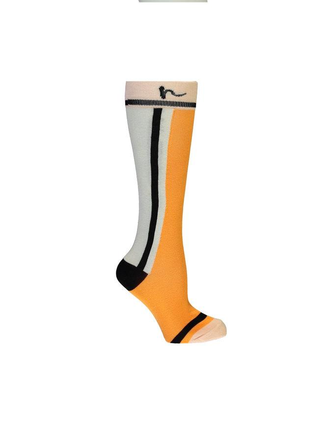 Rose Long Sock - Blazing Orange