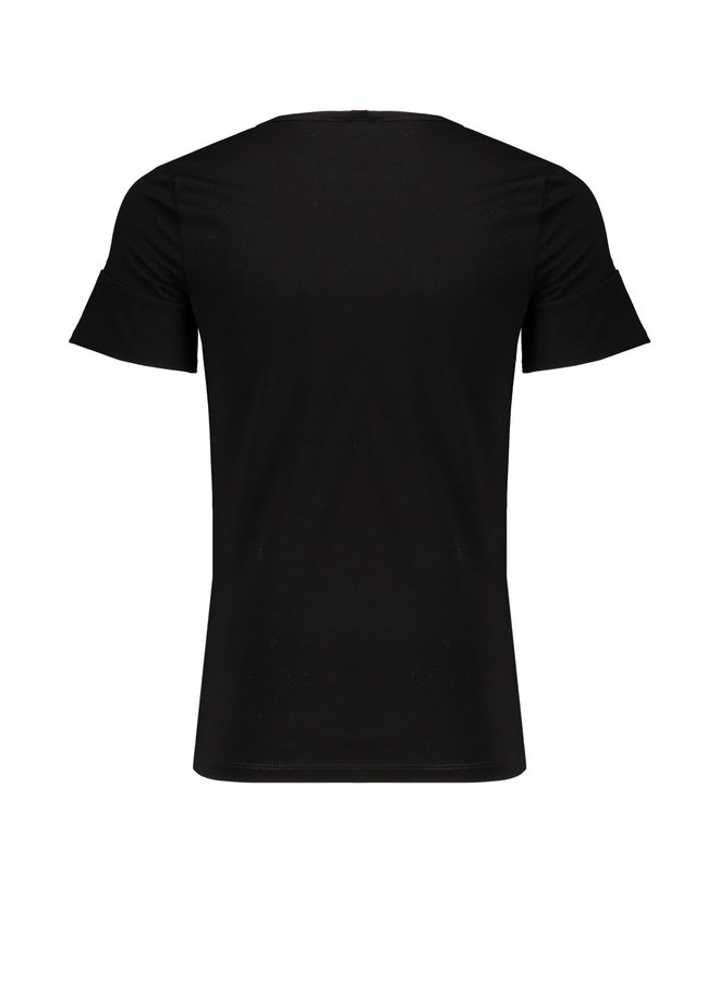 Kulia T-shirt ssl With Favourits Embroidery At Chest - Jet Black