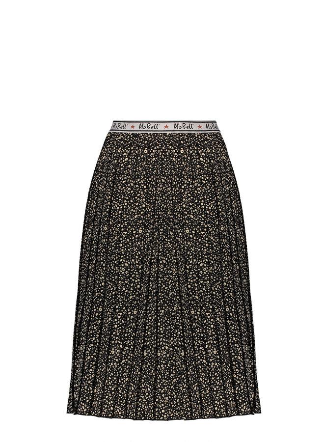 Noel Maxi Pleated Skirt With Branded Elastic Waistband - Jet Black