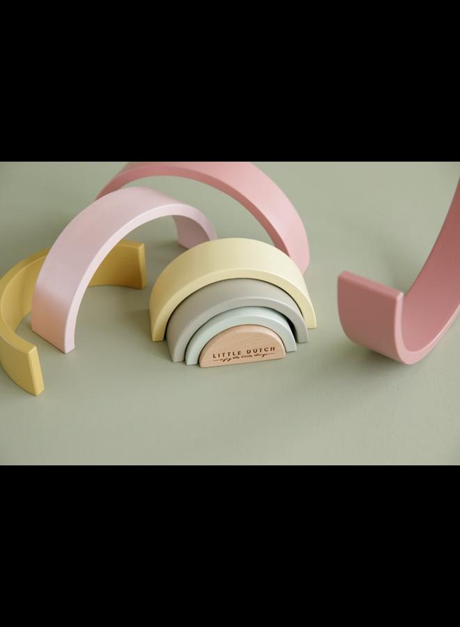 Houten regenboog - Pink