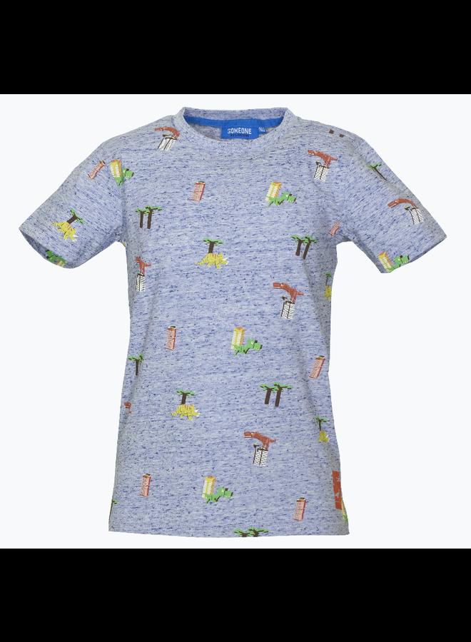 Dinos - T-shirt - Blue Melange