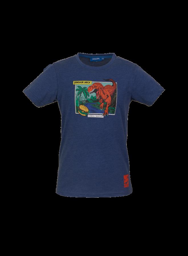 Dinos - T-shirt - Dark Blue Melange