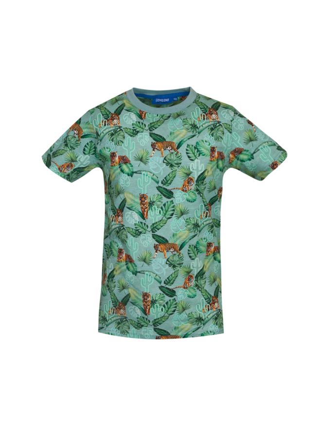 Rajah - T-shirt - Light Green Melange