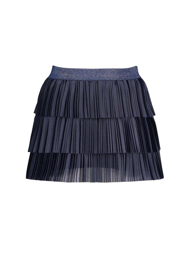 Girls 3 Layer Plissé Skirt - 146 Space Blue