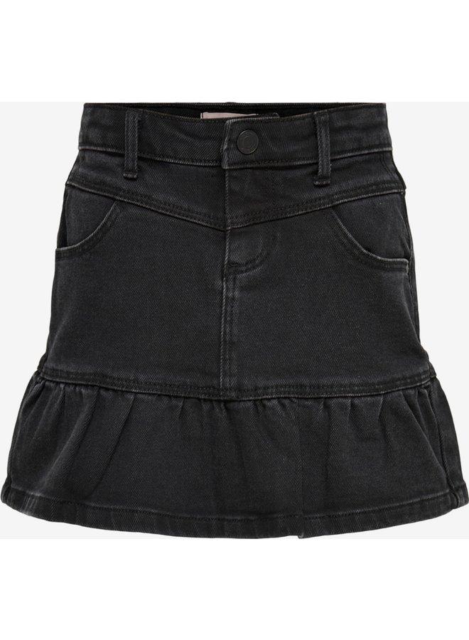 Konjolie Black Dnm Skirt - Black Denim