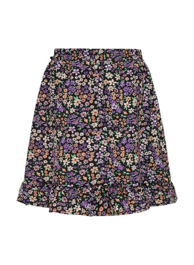 Konselma Fake Wrap Skirt - Black