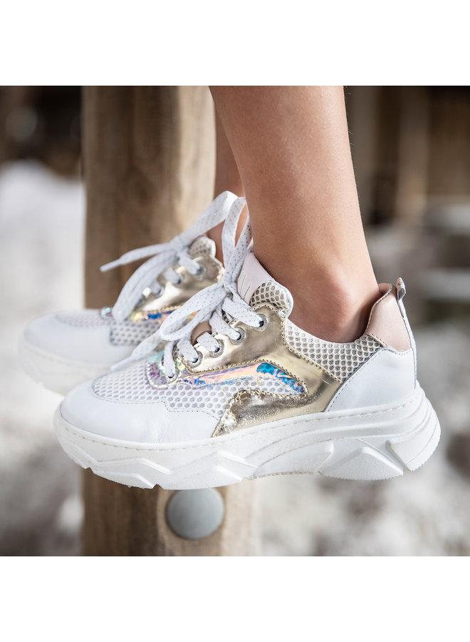 Girls Low Cut Sneaker Laces - Gold