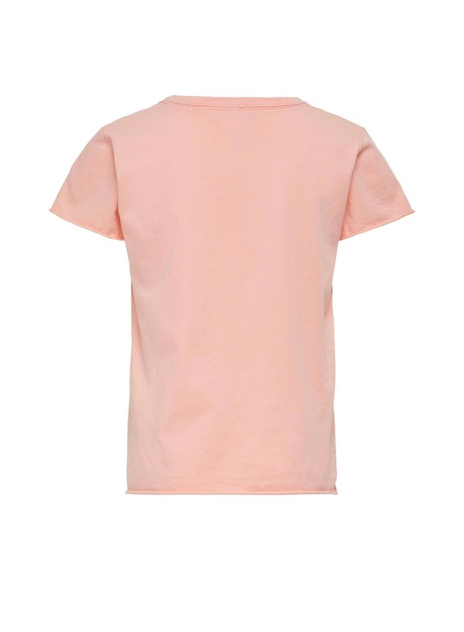 Lucy Life Fit s/s Western Top - Peach Pearl