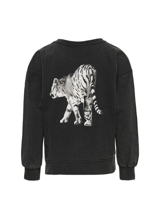 Lucinda Life l/s Drop Tigr/Leo CS SWY - Black Print - Tiger