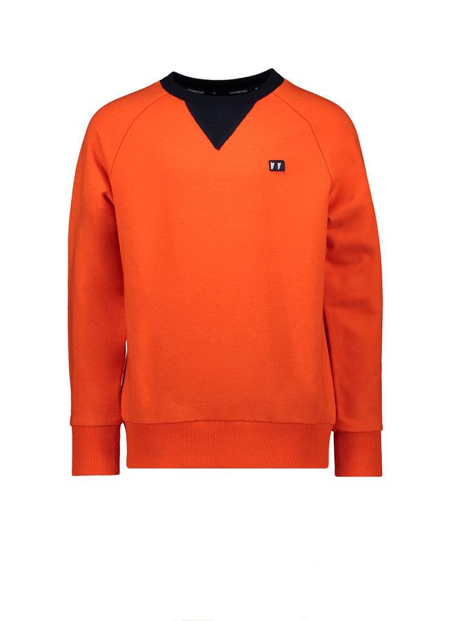 Stanley Round Neck Raglan Sweater - Fiesta
