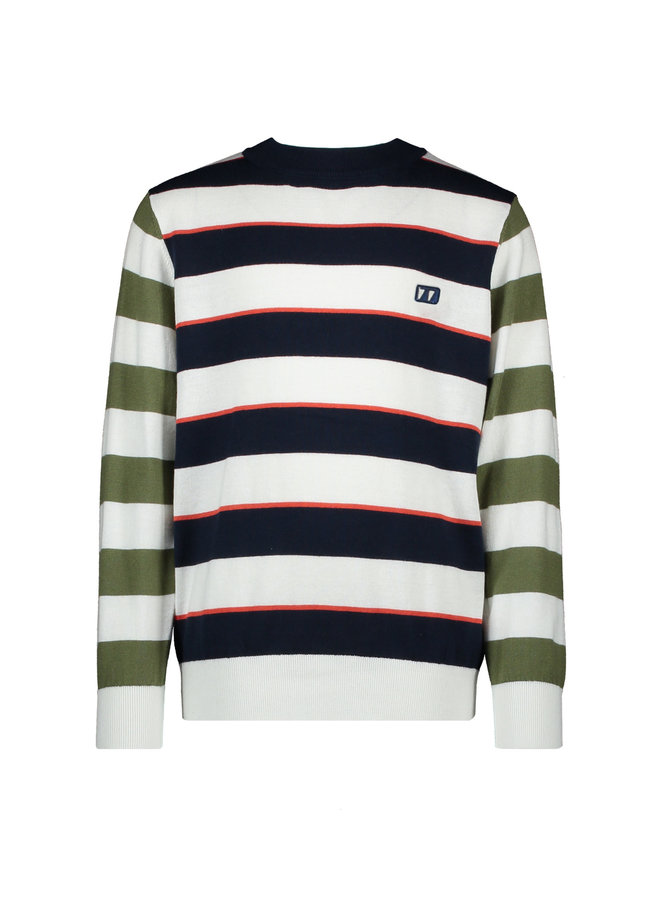 Theo Pullover Allover Stripes - Navy Blazer