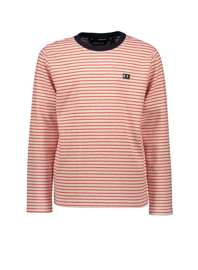 Timmy Roundneck Sweater Stripes - Fiesta