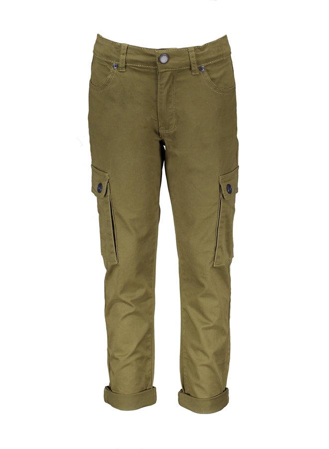 Parker Trouser With Cargo Pockets - Avocado