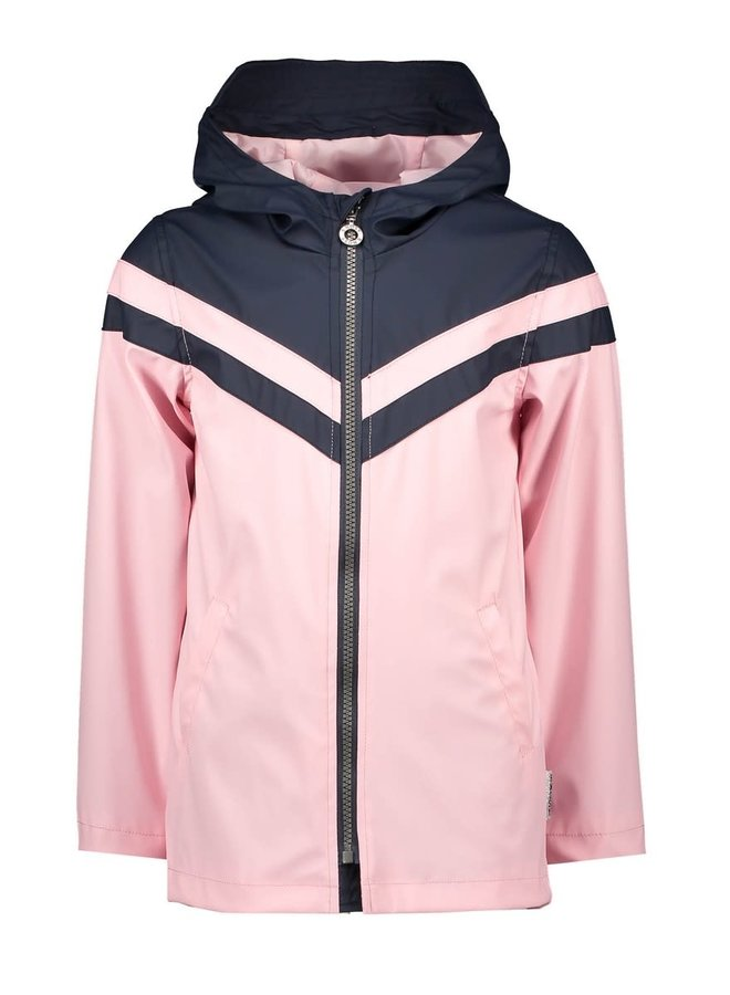 Zomerjas Girls - Parka with Contrast Part - Pink